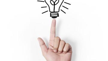 Bulb light on Fingertip